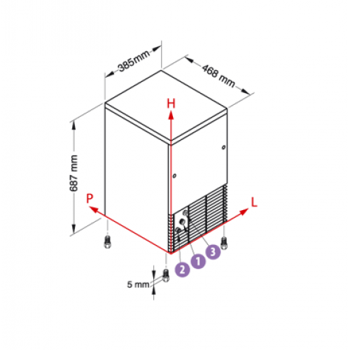 Льдогенератор кубикового льда NTF-IFT 55W