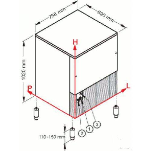 Льдогенератор гранулированного льда Brema GB 1555A