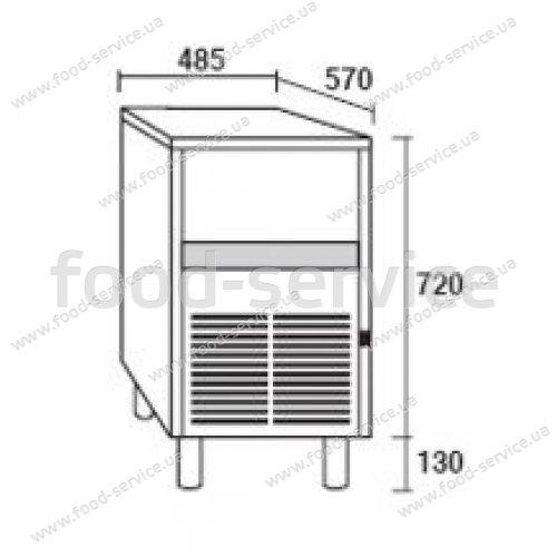 Льдогенератор колпачкового льда Simag SCN35A