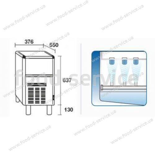 Льдогенератор колпачкового льда Simag SDN 35A