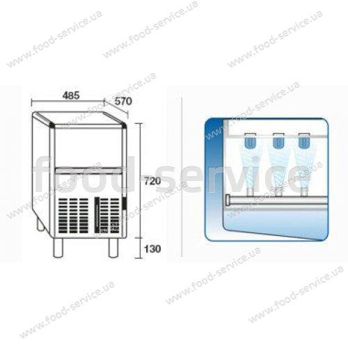 Льдогенератор колпачкового льда Simag SDN 45A