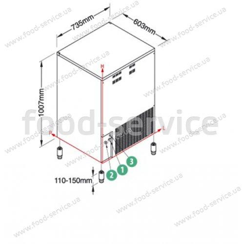 Льдогенератор кубикового льда NTF-SL260W