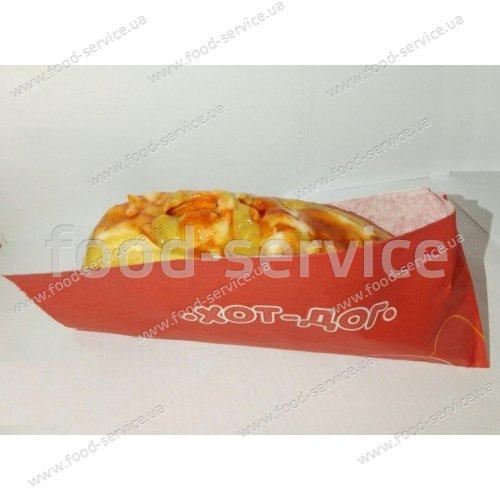 Уголок для хот-дога красный (1000шт)