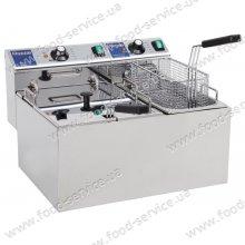 Фритюрница электрическая 4+8л Hendi Master Cook 207406