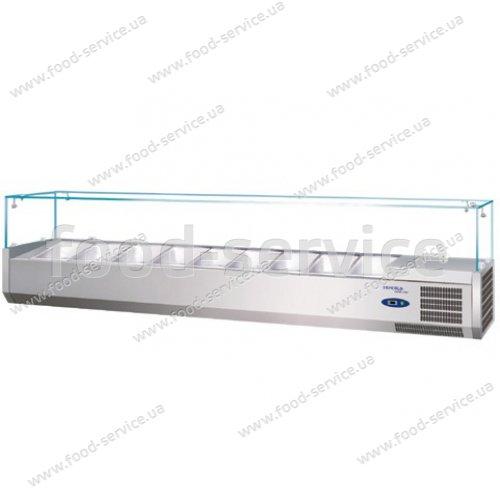 Витрина холодильная для пиццы TEFCOLD VK38-200 (прямое стекло)