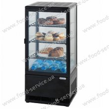 Витрина настольная холодильная Stalgast 78л черная 852171