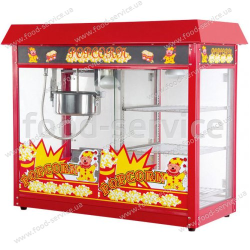 Аппарат попкорна с витриной Pop Food ET-POP6A-D Premium