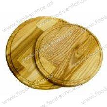Доска деревянная круглая с желобом 42*2 см.