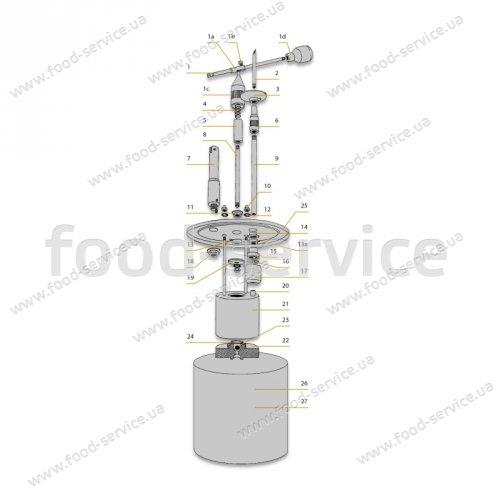 Дозатор-наполнитель ручной для крема и начинки 8003 на 5л