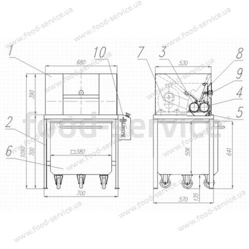 Дробилка для орехов, вафельных листов, сухарей и печенья БМ-2250
