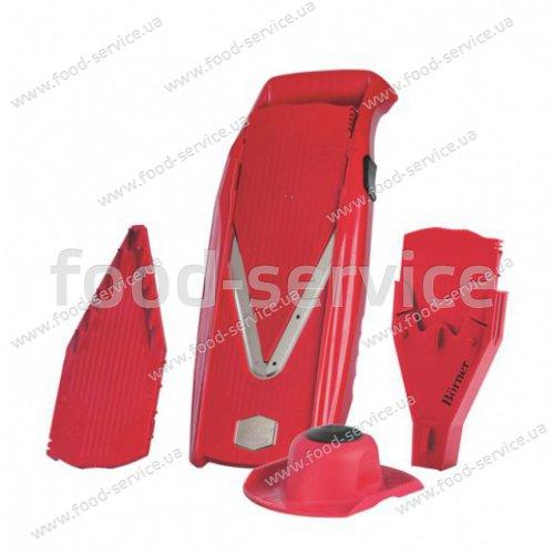 Овощерезка Borner Prima темно-красная с боксом для вставок