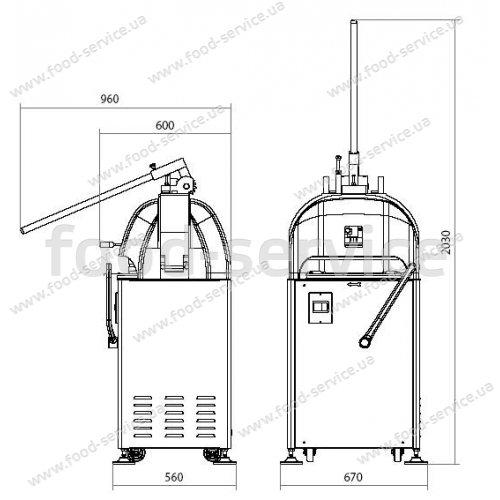 Тестоделитель-округлитель полуавтоматический SPA SA 30, Vitella