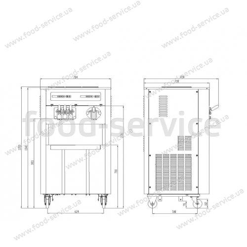 Фризер для мягкого мороженого Oceanpower OP3822