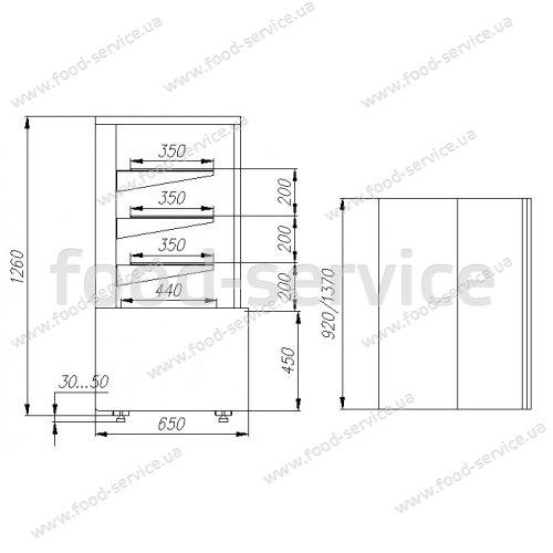 Витрина холодильная кондитерская Полюс Carboma ВХСв-0,9д Cube