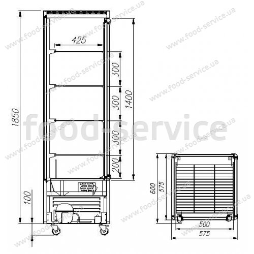 Холодильный шкаф Сarboma R400C