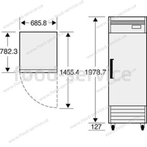 Морозильный шкаф Daewoo FD-650F