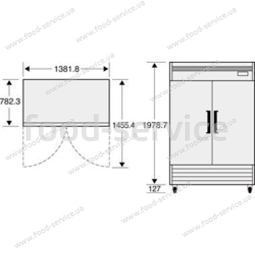 Морозильный шкаф Daewoo FRS-1250F