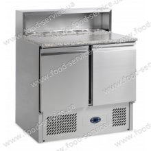 Стол для пиццы Gastrorag PS900 SEC с гранитном и салат-баром