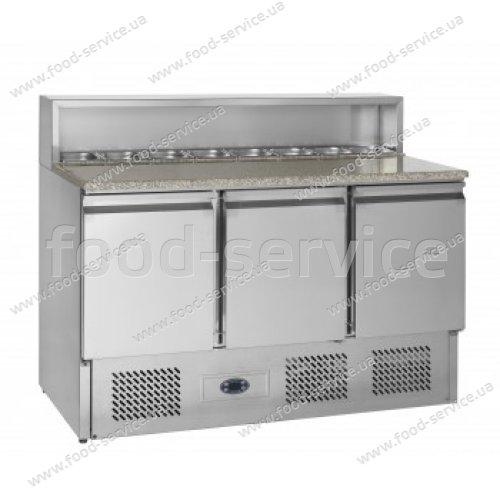 Стол для пиццы TEFCOLD РT930 с гранитной столешней и салат-баром