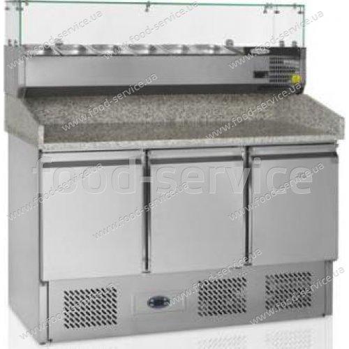 Стол для пиццы TEFCOLD РT1365 с гранитной столешней и витриной