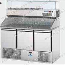 Стол для пиццы с гранитом и салат-баром DGD  SL03PZVR4