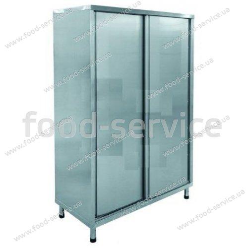 Шкаф для посуды с раздвижными дверями нерж.