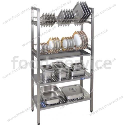 Стелаж сушка для посуды 2-х секционный СТС-2