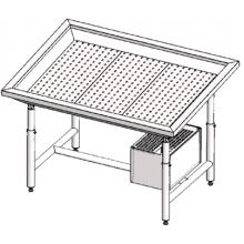 Стол для выкладки рыбы с охлаждением Инокс-маркет 2200, Техно 1