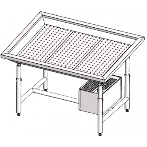 Стол для выкладки рыбы с охлаждением Инокс-маркет 2100, Техно 1
