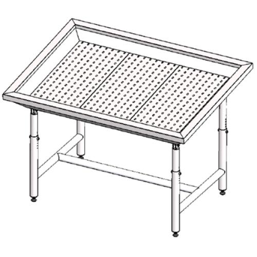 Стол для выкладки рыбы нейтральный Инокс-маркет 1400, Техно 1