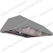 Зонт островной с жироулавливающим фильтром от 700х900мм
