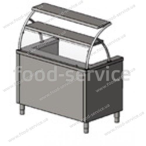 Мармит для 1-х блюд с 2 полками, гнутым стеклом, на 3 конфорки Инокс-маркет, Техно 1