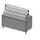 Прилавок холодильный с гнутым стеклом, 2 стекл. полки, 5хGN 1/1  Инокс-маркет, Техно 1