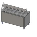 Прилавок холодильный с гнутым стеклом, 1 полка, 5хGN 1/1 Инокс-маркет, Техно 2