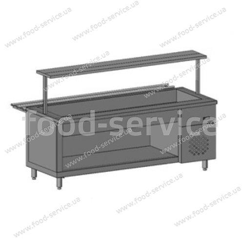 Прилавок холодильный для 5хGN 1/1 с 1 полкой Инокс-маркет, Техно 2