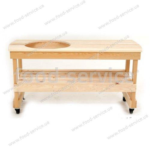 Деревянный длинный стол YXL4 для грилей Big Green Egg Extra-Large