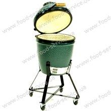 Гриль-печь Big Green Egg Medium в гнезде с полками