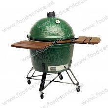 Гриль-печь Big Green Egg XXL в гнезде со столиками