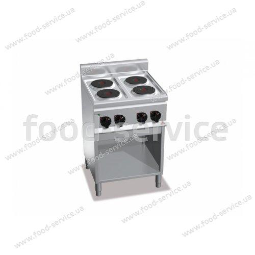 Плита эл. 4-х конфорочная Bertos E6P4M