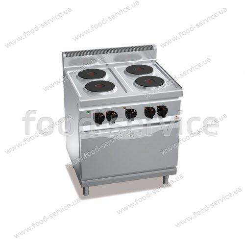 Плита эл. 4-х конфорочная с духовкой Bertos E7P4+ FE1