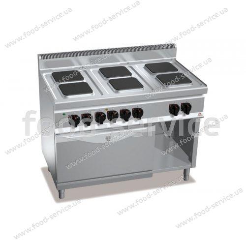 Плита эл. 6-ти конфорочная с духовкой Bertos E7PQ6+FE