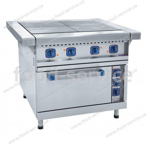 Плита электрическая 4-х конфорочная с жарочным шкафом ЭП-4ЖШ