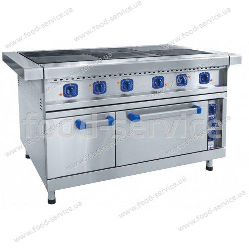 Плита электрическая 6-конфорочная с жарочным шкафом ЭП-6ЖШ