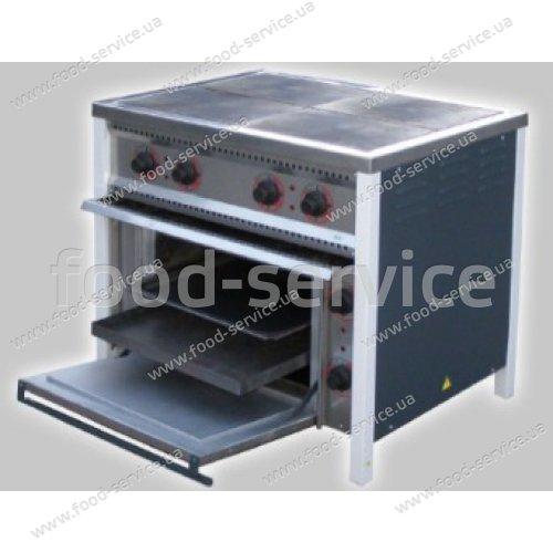 Плита 4-х конфорочная с духовым шкафом ПЕ-4Ш Ч Эконом