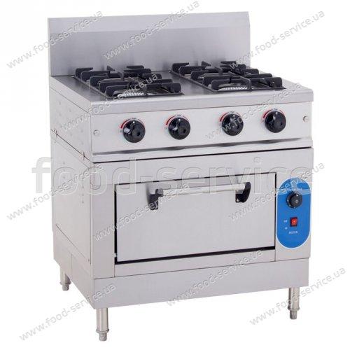 Плита газовая 4 конфорочная с духовкой HGR-4