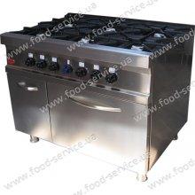 Плита газовая 6 конф. с духовкой М 015/6 PIMAK, с контроллером
