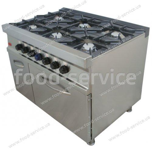 Плита газовая 6 конфорочная с духовкой M015/6D new PIMAK