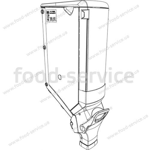 Диспенсер для сыпучих продуктов GB150-20 л без крепления