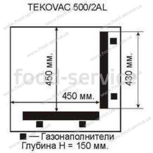 Вакуумная машина TEKOVAC 500АL угловая запайка