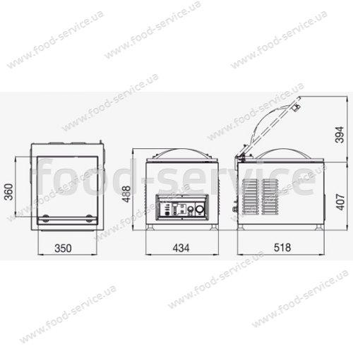 Вакуум-упаковщик Pack 350